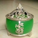The beauty of the Tibet silver, jade censer (A5)