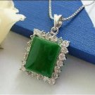 925 green jade jade pendant with silver P129