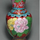 Chinese Old Cloisonne Hand Painting Flower Vase (B133)