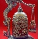 Tibet beautifully carved dragon Buddha bell (B139)