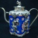 Wonderful Tribal old tibet silver sculpture TeaPot