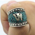 Chinese Old Tibet - Silver Turquoise Ring(B3345)
