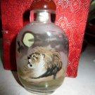 Delicate glass draw snuff box (the lion)