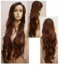 New Sexy Long Curly natural brown Hair Wig