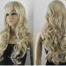 Long blonde curly style wig women