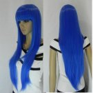# 5 new full wig long straight blue