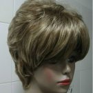 E376 new BLONDE MIX short straight cosplay full soft wig