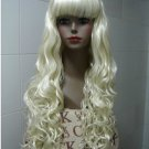 86 new long hair light blond wig COSPLAY all soft