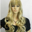 new light blonde & brown mixed full wig