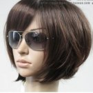 New fashion short dark brown BOB wig