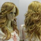 COSPLAY long blonde hair wig mixed