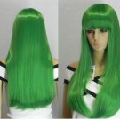 Beautiful long straight COSPLAY 0033 green wig / wigs wholesale