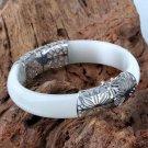 925 sterling silver bracelet carve patterns or designs on woodwork of female mon