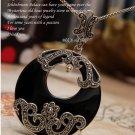 "925 and Ma Sake ""national style retro pendant silver black"