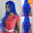Sexy 2011 New Blue Classic Long Wavy Hair Wig Wigs