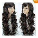 Beautiful sexy black hair women's hair Long Hair Wig/wigs(n1)