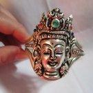 The beauty of the Tibet silver sculpture (Buddha) bracelet