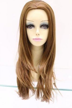 new fashion woman long yellow hair wig
