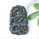 Beautiful ink yulong necklace pendant