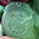 Manual sculpture kirin natural ice kind of jade pendant