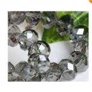 70pcs Gray Swarovski Crystal Loose Bead 6x8mm