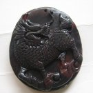 Charming jade carving amulet chicken kylin (A10)