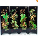 Chinese Lacquer Handwork Paint Character Folding Screen