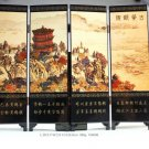 Chinese Lacquer Handwork Paint Scenery Folding Screen 184006