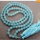 "8mm Round Howlite blue turquoise gemstone beads 30"""
