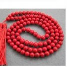 108 Red Turquoise Beads Buddhist Prayer Necklace Mala