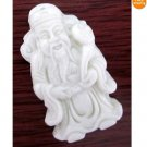 Chinese Jade Wealth God Amulet Pendant