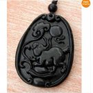 Black Green Jade Lucky Rabbit Yuanbao Ruyi Pendant