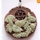 Zipao Jasper Happy Phoenix Amulet Pendant