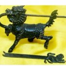 Rare Chinese old style Brass Carved kylin lock & keya