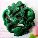 Old jade carving dragon China and phoenix a couple