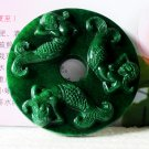 China's old jade carving small place mermaid on mountain