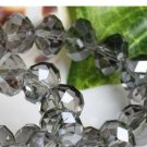 70pcs Gray Swarovski Gemstone Loose Beads 6x8mm