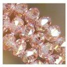 100pcs Pink Swarovski Crystal Gemstone Loose Beads 4x6mm