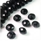 70pcs Black Swarovski Crystal Gemstone Loose Beads 6x8mm