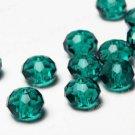 70pcs  Green Cut Swarovski Crystal Rondelle Beads 8mm