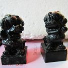 A pair of black jade carved lions jade chapter chapter embryos