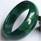 Wider thicker green & pattern Jade/agate bangle 212