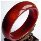 Wider thicker red natural agate/jade bracelet 433