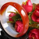 A level natural agate jade bracelet inner 58 red and white agate bracelet