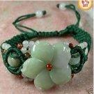 The most charm of carved jade flower bracelet