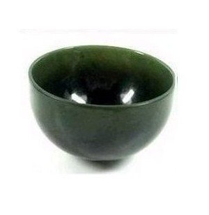 The quality manual sculpture sapphire tea bowl