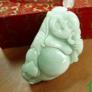 Necklace pendant good luck for natural goods A Jade smiled surface Reclining Buddha