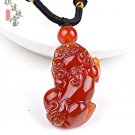 a cargo of natural red agate brave pendant male and female models