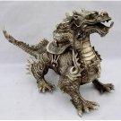 Huge rare Tibetan Silver luck Dragon Statue