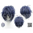 Blue black mixed color short Green of the demons cosplay wig wigs
